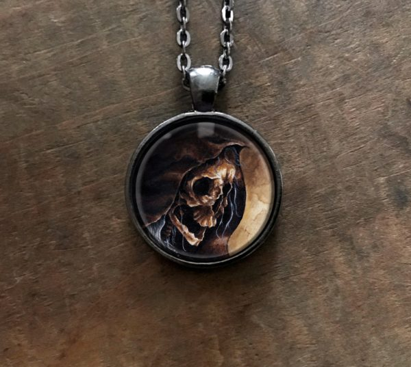 Hooded Skeleton Necklace